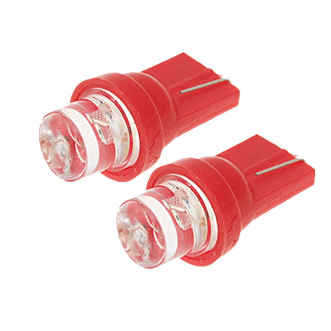 Unique Bargains T10 Bright Red Light Mini 12V Car Auto Lamp Bulb 2PCS