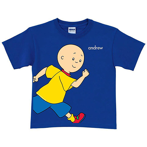 Personalized Caillou Running Royal Blue Toddler Boy T-Shirt
