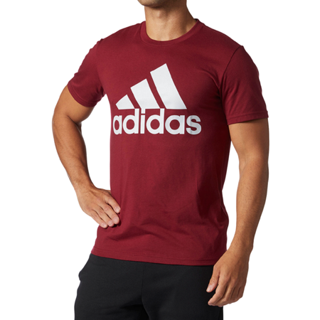 New Adidas Authentic Original Men's Badge of Sport Classic Logo T-Shirt Tee Maroon