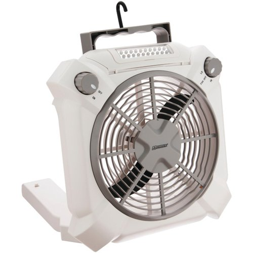 Dorcy Combination 2-Speed Fan and LED Area Light with Adjustable Settings