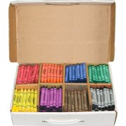 Prang Master Pack Regular Crayons, Assorted, 400 / Box (Quantity)