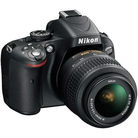 Nikon D5100 16.2MP Black DSLR Camera, 18-55mm VR Lens, 3.0