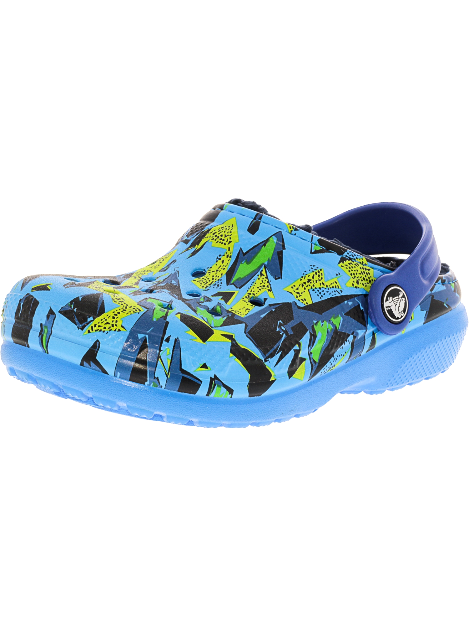 Crocs Classic Lined Graphic Clog Ocean   Navy Ankle-High Clogs 1M by Crocs