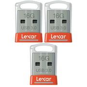 Lexar 3-Pack JumpDrive S45 16GB 3.0 Flash Drive