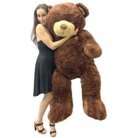 Big Plush 5 Foot Teddy Bear Soft Brown Premium Giant Stuffed Animal 60 Inch Snuggle Buddy for $<!---->