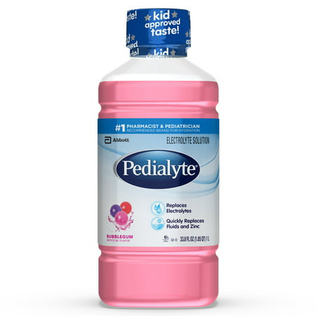 Pedialyte Electrolyte Solution, Hydration Drink, Bubble Gum, 1 Liter (Bubble Gum Vitamins)
