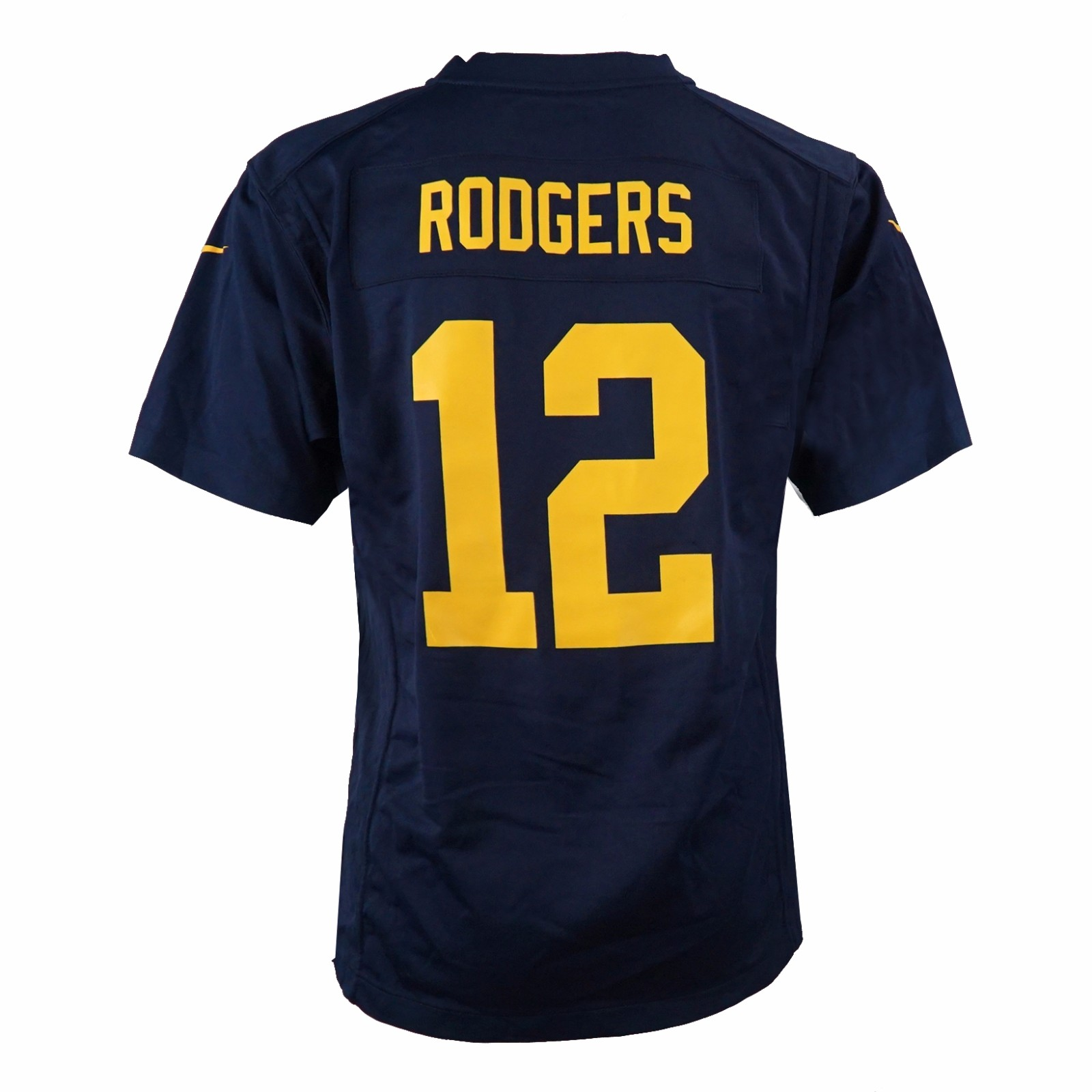 Aaron Rodgers Green Bay Packers NFL Nike Navy Game Team Jersey For Youth