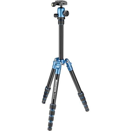 Manfrotto Element Traveler Small 5-Section Aluminum Tripod with Ball Head, 8.8lbs Capacity, 53