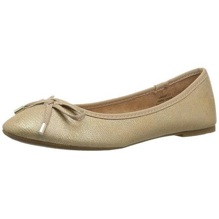 Rock & Candy Women's LARSAH Ballet Flat, Gold Lizard, 7.5 Medium US (Rock And Candy Flats)