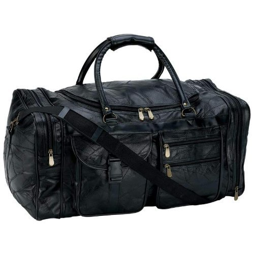 Embassy 25 in. Leather Cowhide Duffle Bg [Kitchen]