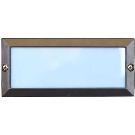 Dabmar Lighting LV602-BZ Cast Aluminum Recessed Open Face Brick, Step & Wall Light, Bronze - 4 x 9.13 x 3.25 (Cast Aluminum 4 Light)