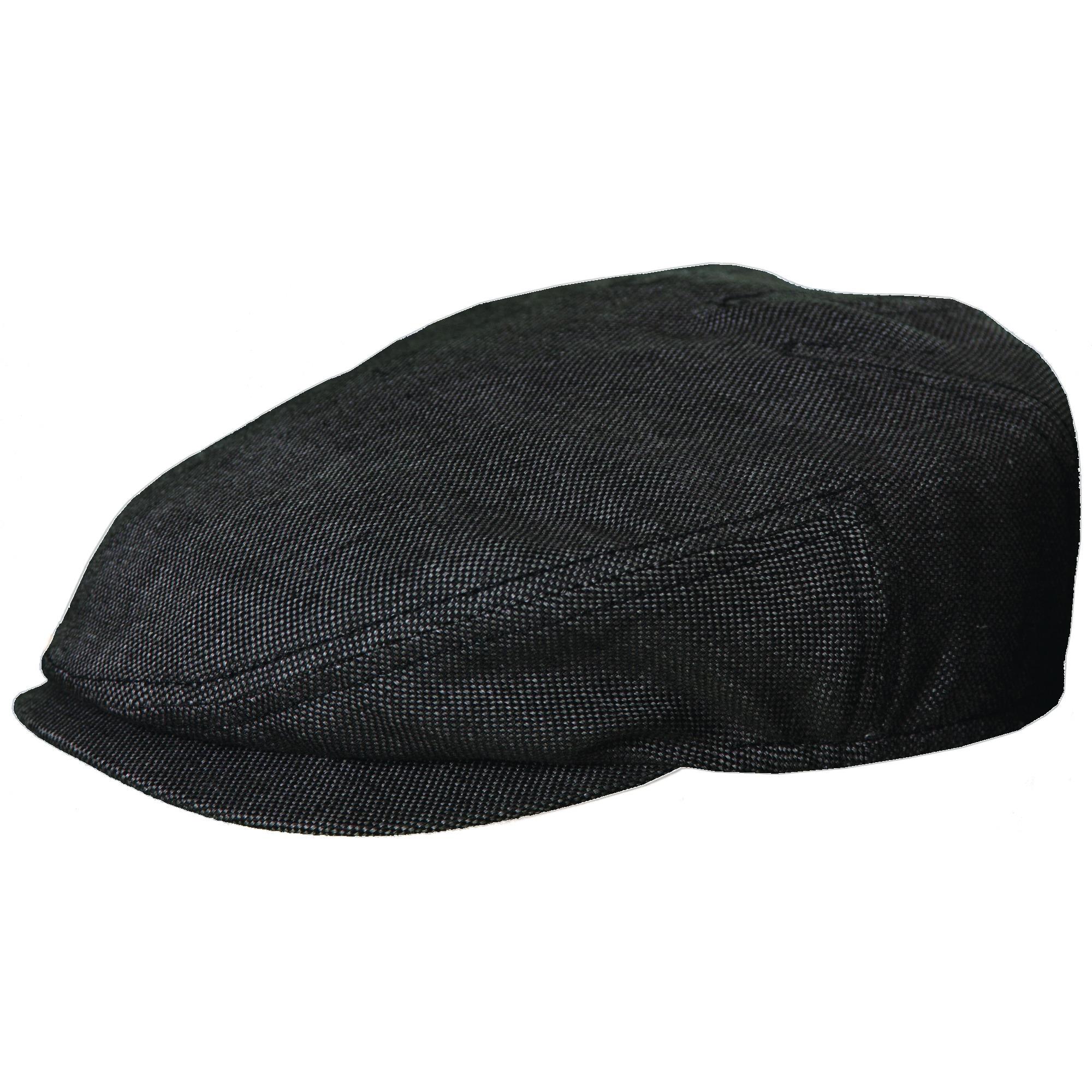 Stetson Size Xlarge Linen Lightweight Ivy Cap, Black