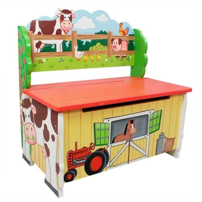 Fantasy Fields Happy Farm Storage Bench by Teamson