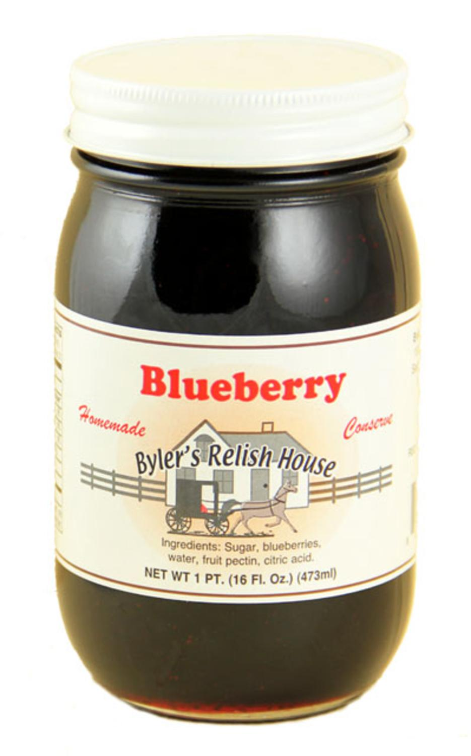Byler's Relish House Homemade Amish Country Blueberry Jam Fruit Spread 16 oz. by Byler's Relish House