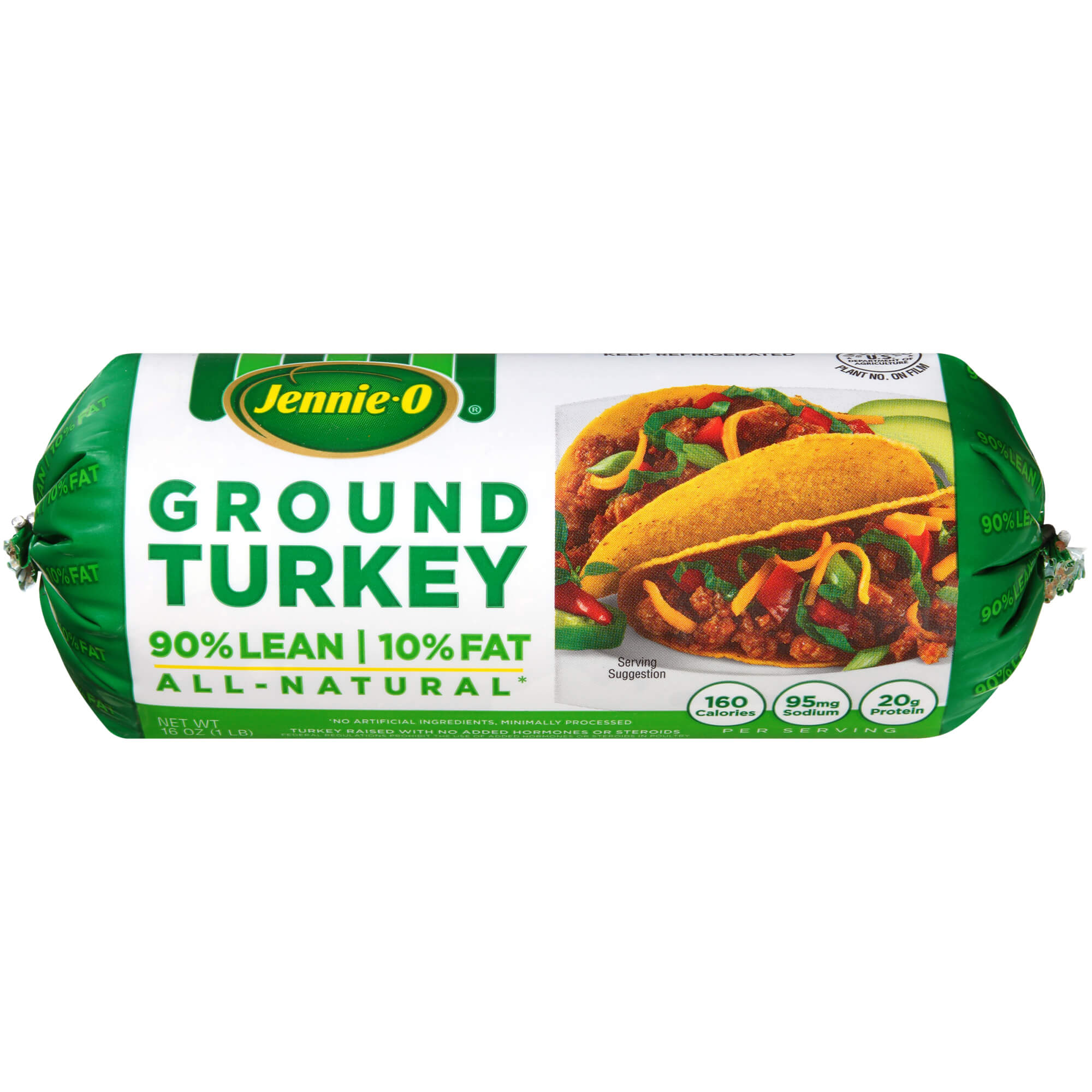 Jennie-O Lean Ground <mark>Turkey</mark> Roll, 16 ounce (1 pound)