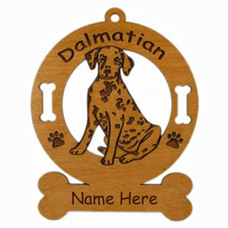 Dalmatian Pup Sitting #1 Dog Ornament Personalized with Your Dog's Name (Personalized Dalmatian)