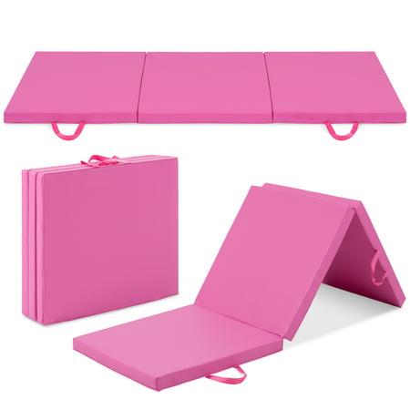 Best Choice Products 6' Exercise Tri-Fold Gym Mat For Gymnastics, Aerobics, Yoga, Martial Arts -