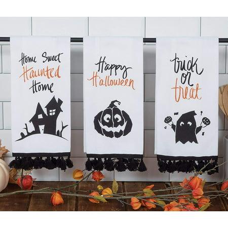 Halloween Main Dishes For Parties (Halloween Word Art 3 Assorted Glitter Tea)