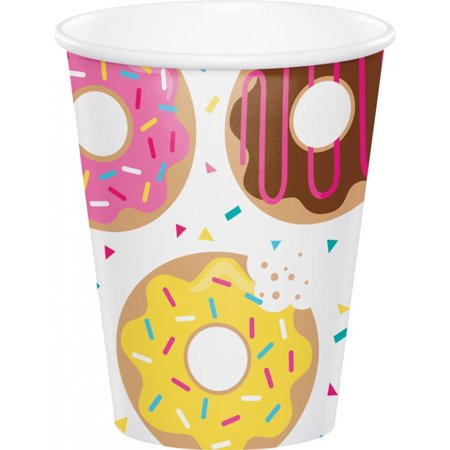 Creative Converting Donut Time Hot/Cold Paper Cups 9 Oz., 8 ct - Oz In Cups