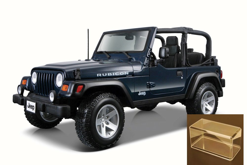 Diecast Car & Accessory Package Jeep Wrangler Rubicon Convertible, Blue Maisto 31245 1 27... by Maisto