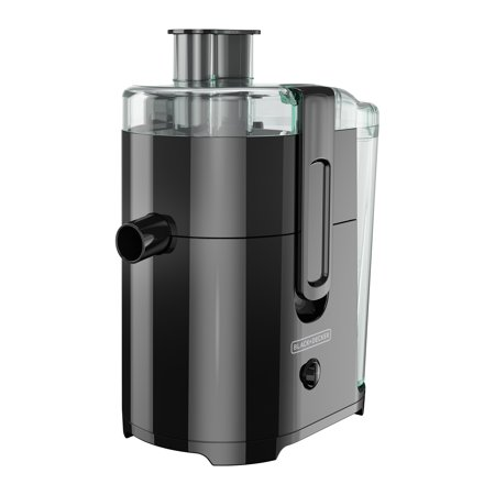 BLACK+DECKER Fruit and Vegetable Juice Extractor with Space Saving Design, Black, JE2400BD ()