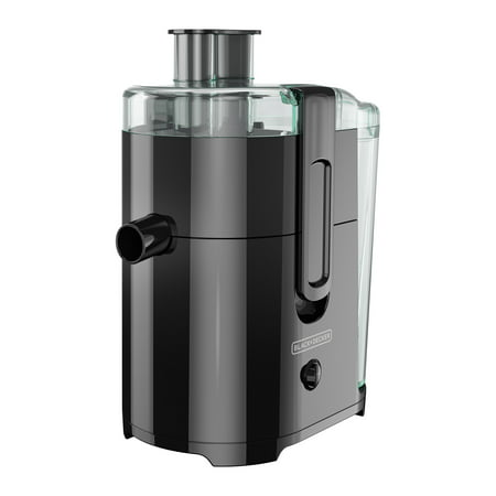 BLACK+DECKER Fruit and Vegetable Juice Extractor with Space Saving Design, Black, (Best Slow Masticating Juicer)