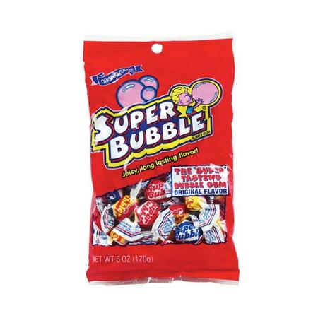 12 Pack : Super bubble gum 6OZ original fruit flavor long lasting (Best Long Lasting Gum)