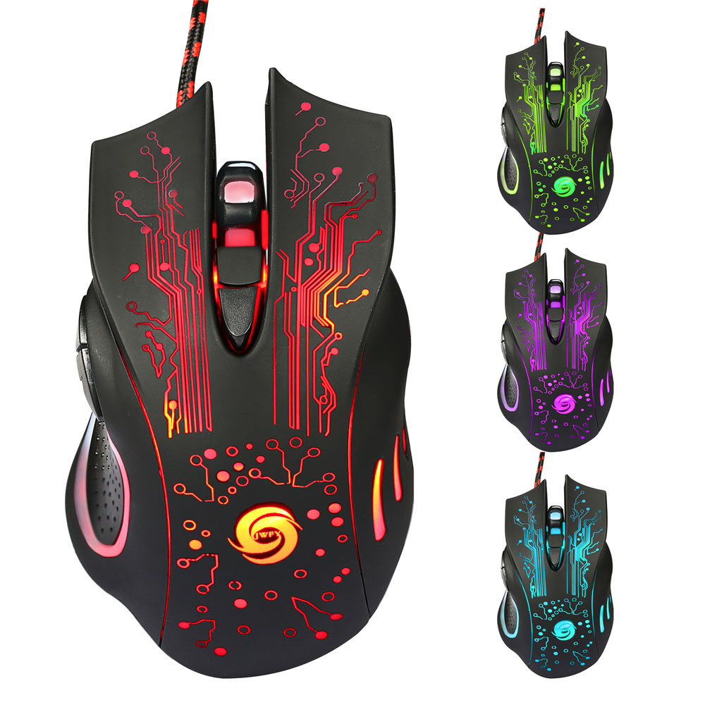 Zimtown 6Button 5500DPI LED Optical USB Wired Gaming Mouse Mice For Desktop PC Laptop