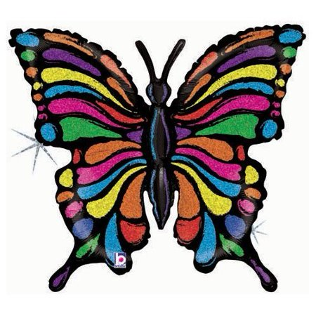 Striped Balloons (Pretty Rainbow Striped Butterfly 33
