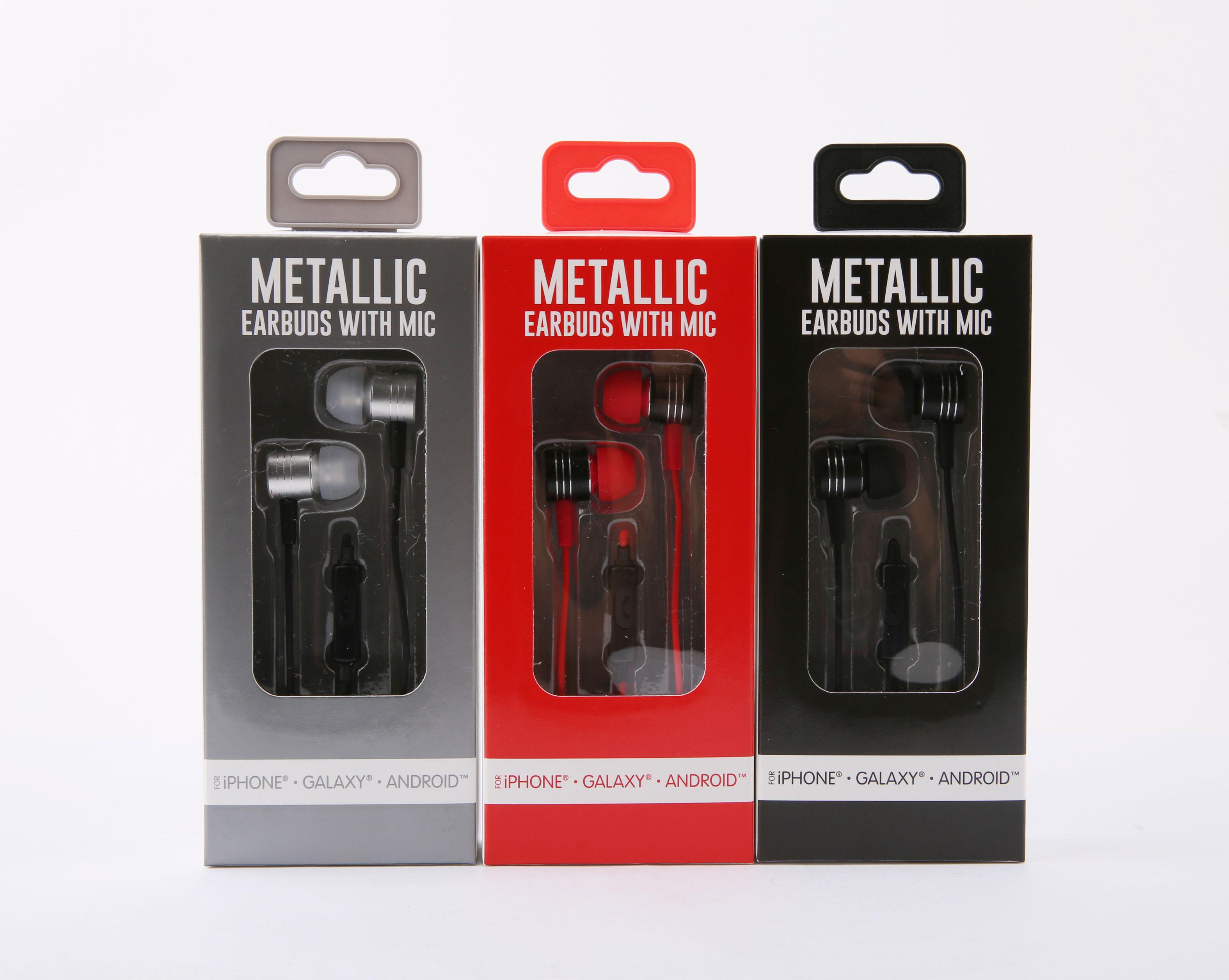 dfb6eef4d4c General Metallic Earbud W/mic Black - Walmart.com