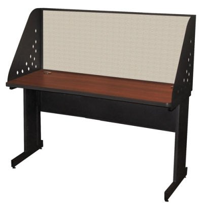 Pronto School Training Table with Carrel and Modesty Panel Back MVLPRCM0034DT...