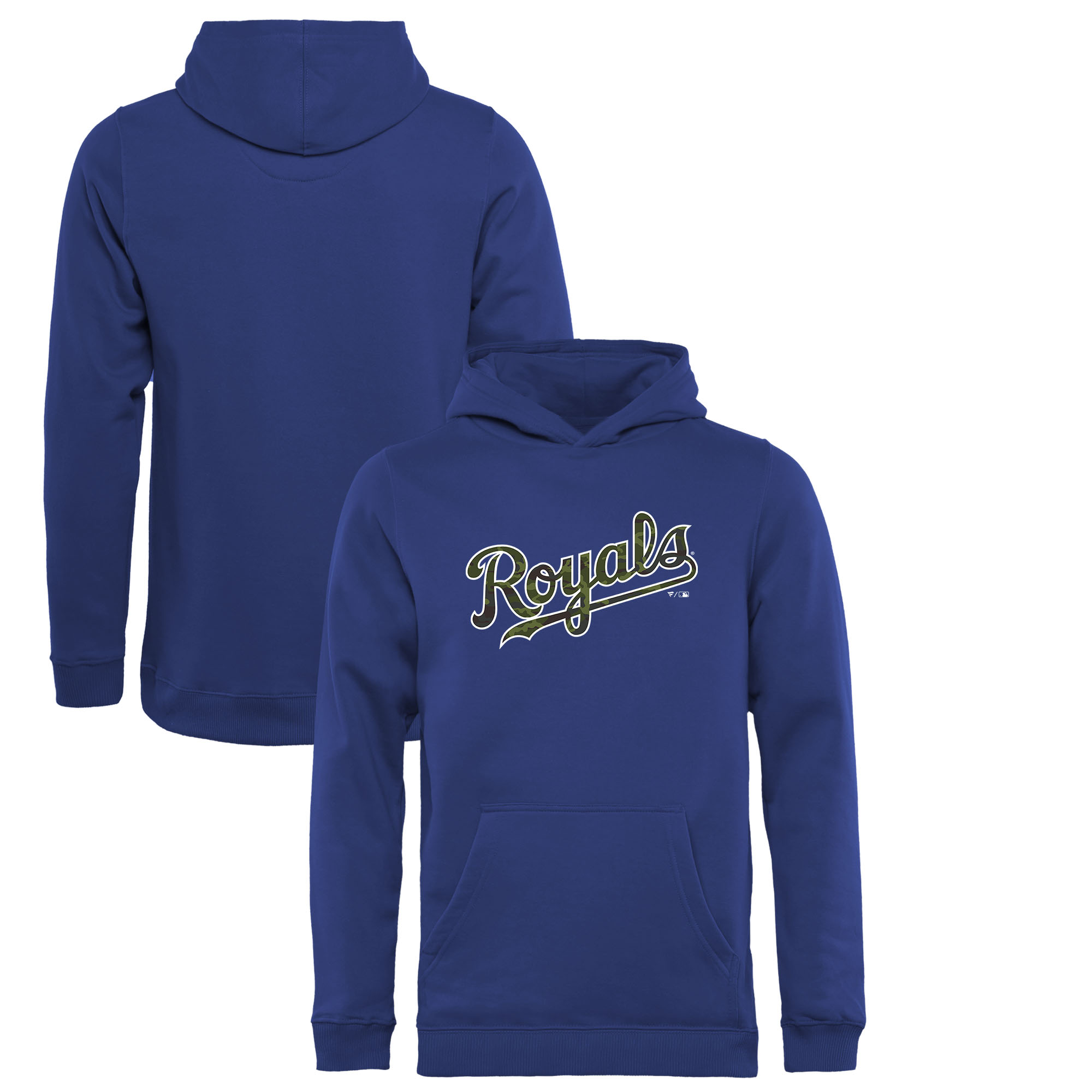 Kansas City Royals Fanatics Branded Youth Memorial Wordmark Pullover Hoodie - Royal