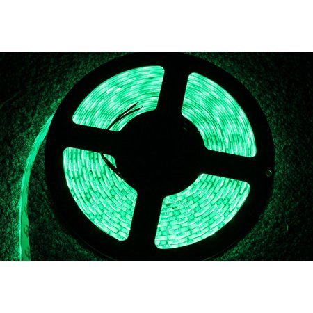 LED4Everything (TM) 5M 16.4ft 12v SMD Green 5050 IP65 Waterproof 300 LED Strip Flexible Tape Christmas Decoration Light (12v Superstar Led Tape)