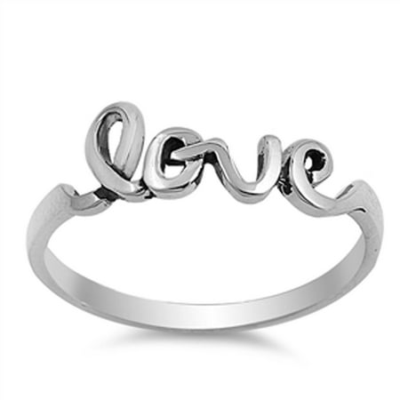 Women's Girlfriend Love Promise Ring New .925 Sterling Silver Band Size 6 (Ring Girlfriend)