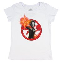 Mad Engine Marvel's Captain Marvel Releasing The Power Graphic Girls T-Shirt