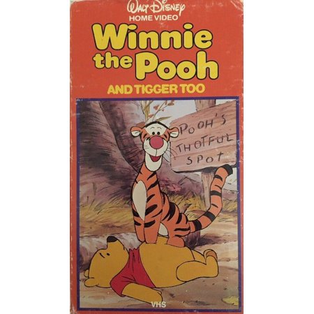 Winnie the Pooh And Tigger Too-Pooh's Thoughfull Spot(VHS)#64V-TESTED-VERY
