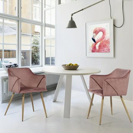 Furniture R Rose Velvet Fabric Cover Dining Chair Aldridge Armchair 2 Packs Walmart Canada