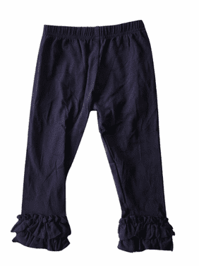 L C Boutique Girls Double Ruffle Pull On Jersey Ankle Pants Sizes 2 to 12