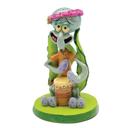 Penn Plax Squidward Mini Resin Aquarium Ornament