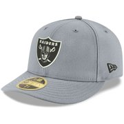 Las Vegas Raiders New Era Omaha Low Profile 59FIFTY Fitted Team Hat - Silver