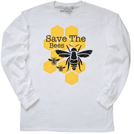 Inktastic Honeycomb Save The Bees Long Sleeve T Shirt