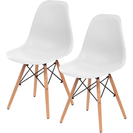 - IRIS Plastic Shell Chair, 2 Pack