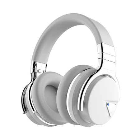0390a8694ff COWIN E7 [Upgraded] Active Noise Cancelling Headphones Wireless Bluetooth  Headphones with Mic Deep Bass Headsets Over Ear 30H Playtime - White -  Walmart.com