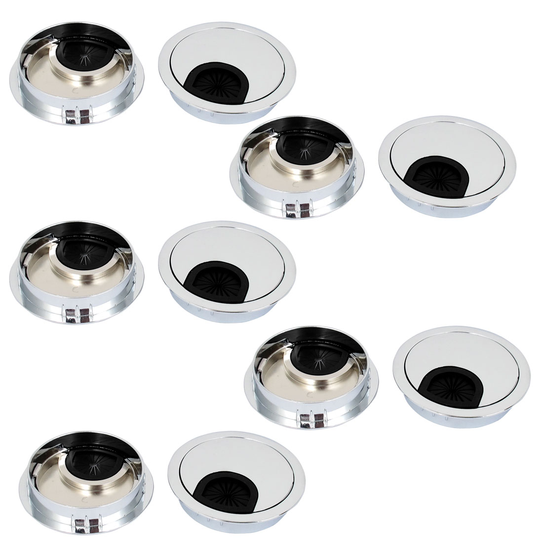 10 Pcs 58mm Alloy Grommet Computer Office Desk Table Counter Top Cord Cable Wire