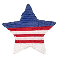 Patriotic Fourth of July Star Pinata 21.5in x 21.5in