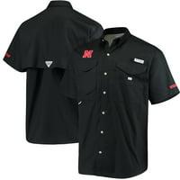Nebraska Cornhuskers Columbia PFG Bonehead Shirt - Black