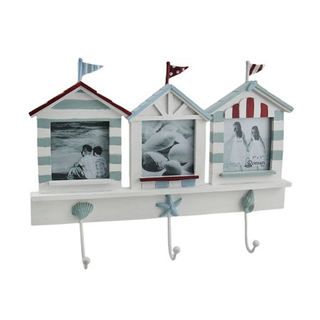 Beach House Triple Picture Frame Amp Decorative Wall Hook