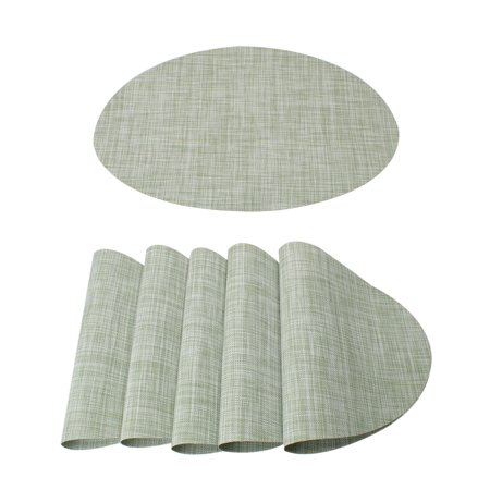 Set Of 6 Placemats Cross Woven Washable Dining Table Mats