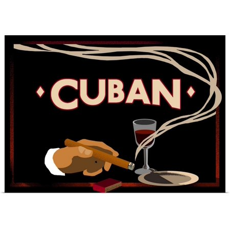 Great BIG Canvas | Rolled Vintage Apple Collection Poster Print entitled Cuban - Vintage Cigar (Habanos Cuban Cigars)