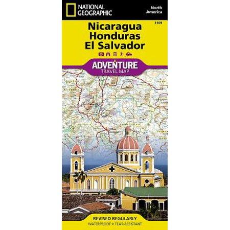 Adventure Map: Nicaragua, Honduras, and El Salvador - Folded Map
